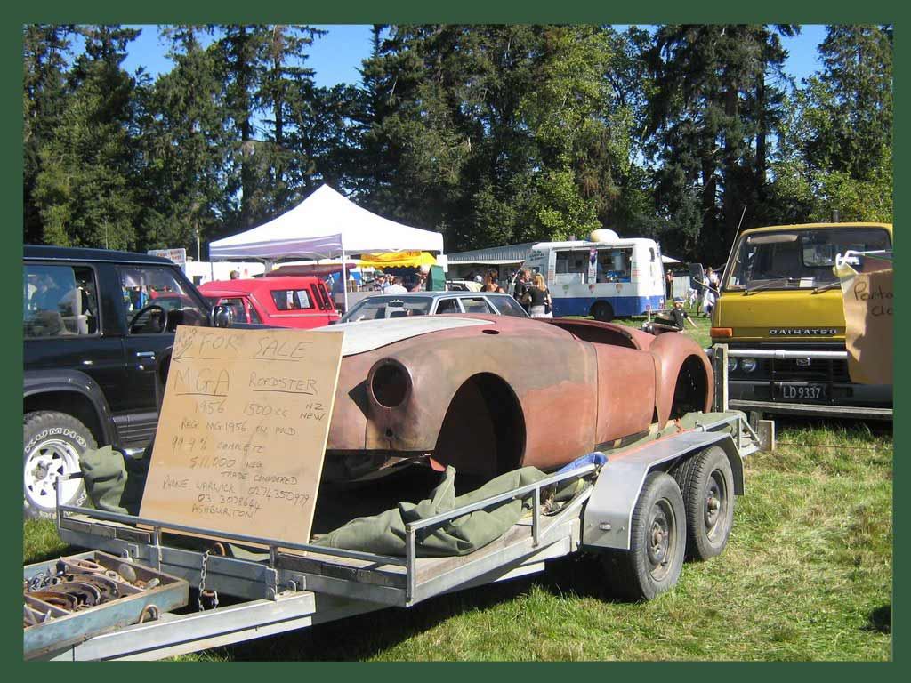 1956 MGA for sale at the Winchester Swap Meet