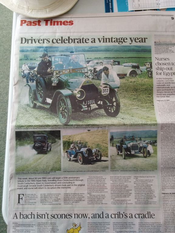 Great newspaper coverage by Timaru Herald