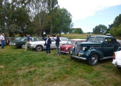 Members vehicles on the Ladies Rally