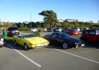 Triumph TR8s are a rare species - it was interesting to see two.
