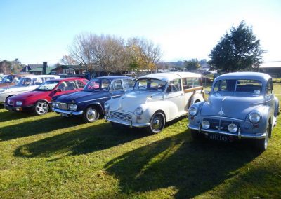 A Ford Sierra, a Humber Sceptre and two Morris Minors