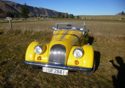 One of the newer entrants, a 1996 Morgan Plus 4