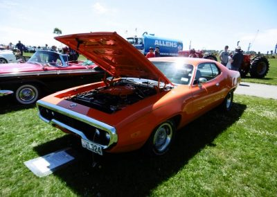 1972 Plymouth Roadrunner, with 1959 Ford Skyliner alongside