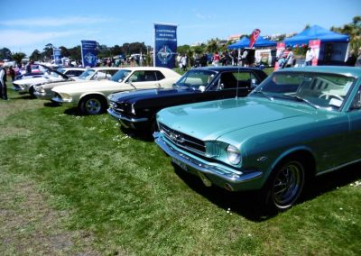 A display by the Canterbury Mustang Owners Club
